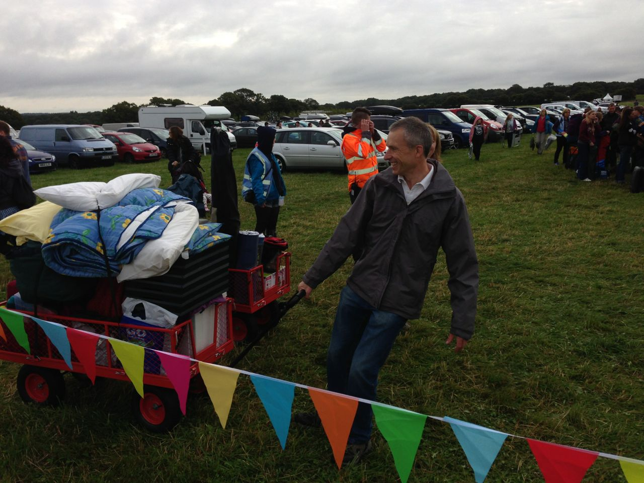 Trolley being used well at Carfest South