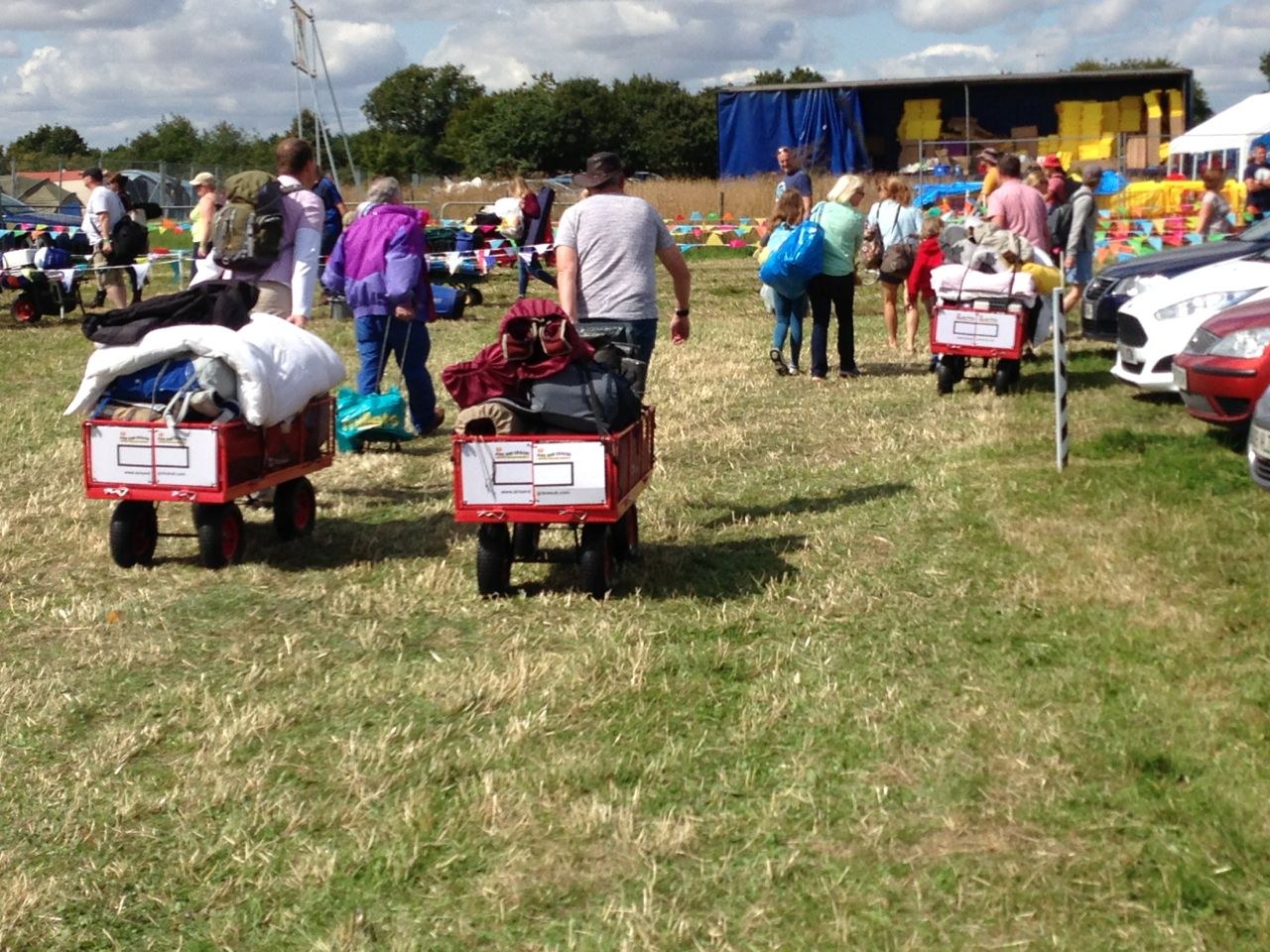 Trolley Hire for Camping at Carfest South