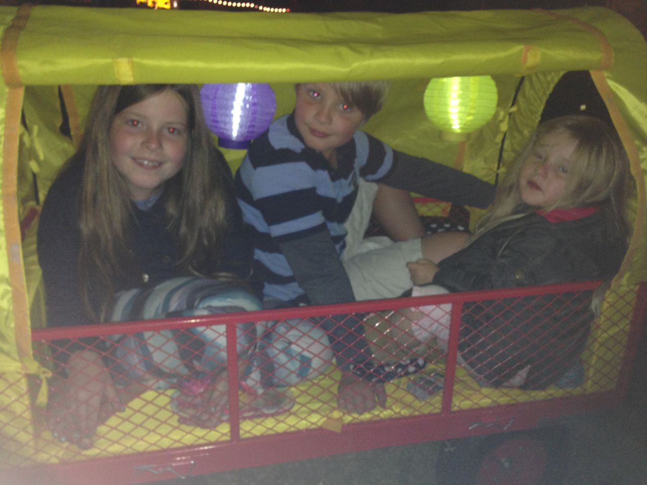 Great fun in the carriage at Carfest