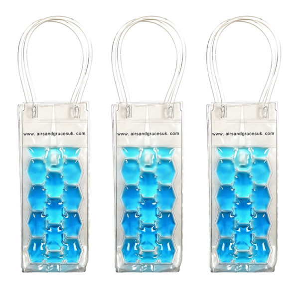 Freezable Wine Cooler Blue 3pack
