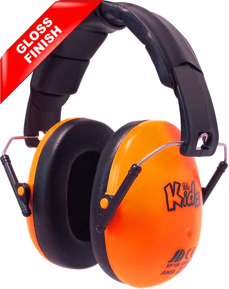 orange kids ear defenders