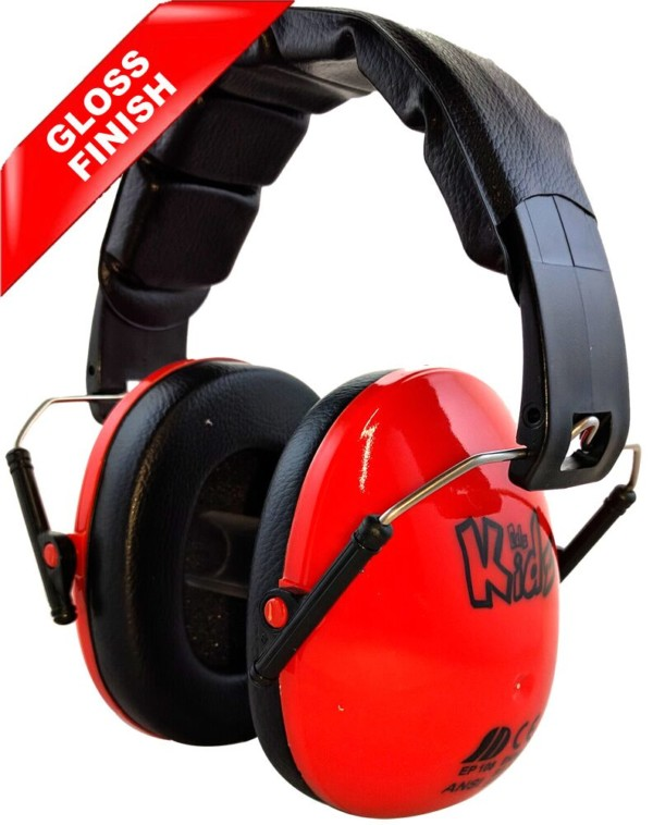 red kids ear defenders