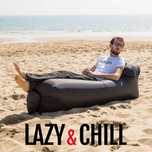 lazy and chill lounger blue black