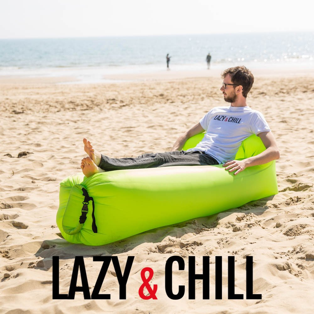 lazy and chill lounger green