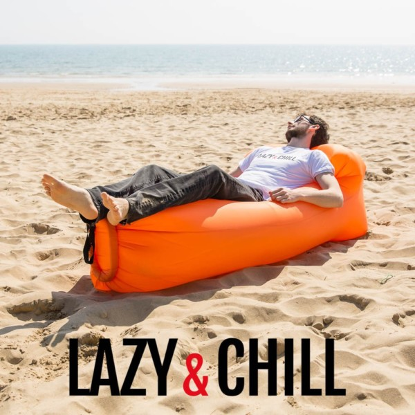 lazy and chill lounger orange