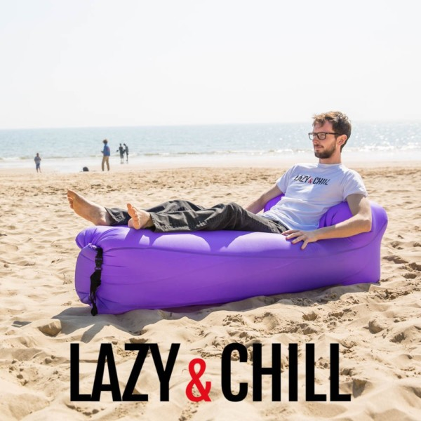 lazy and chill lounger purple