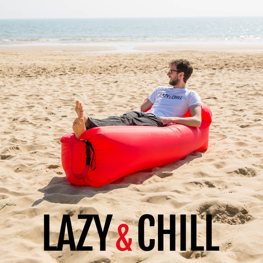 lazy and chill lounger red