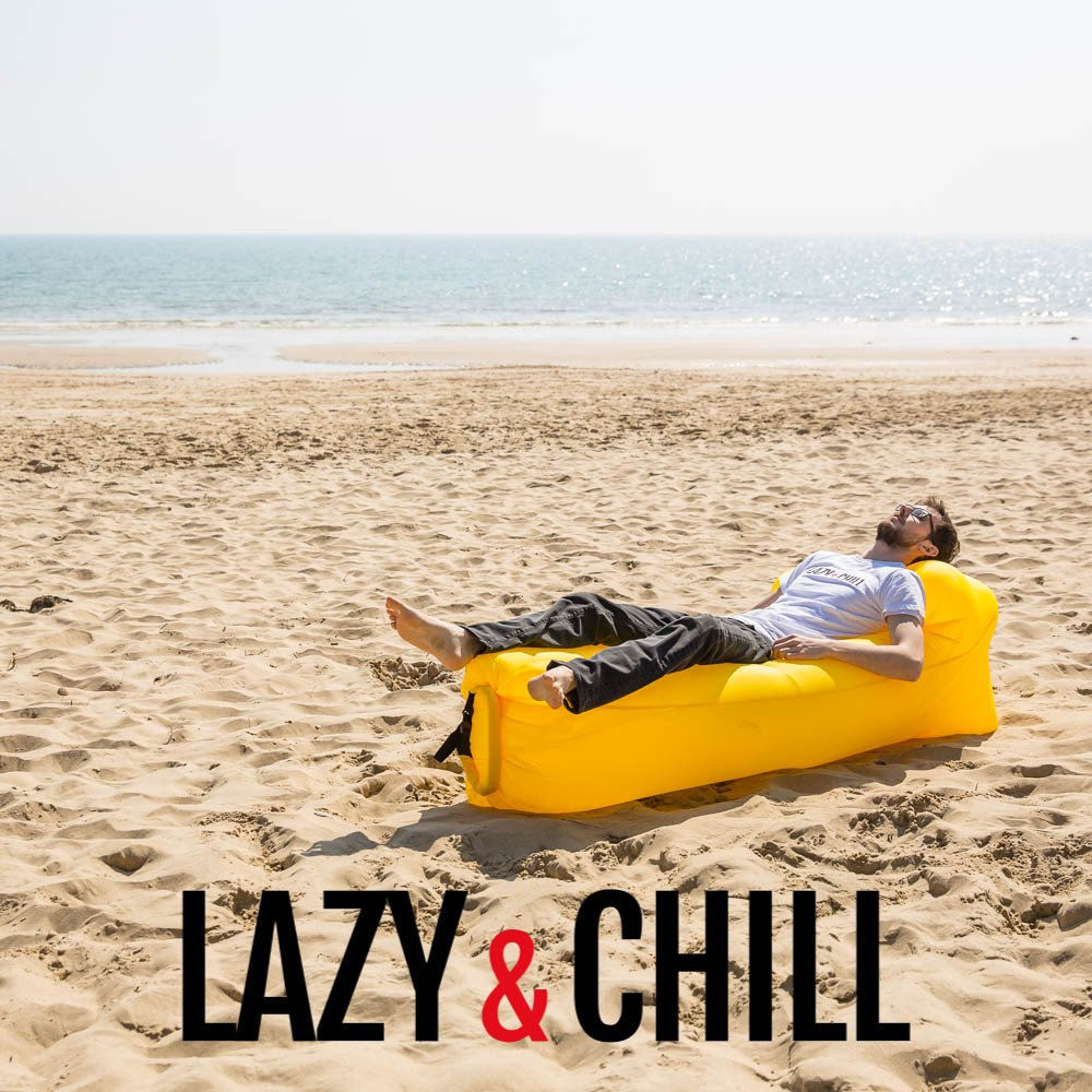 lazy and chill lounger yellow