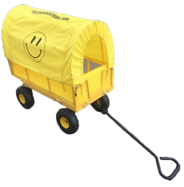 melo-yello - yellow cart trolley for festivals